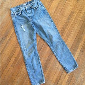 Grlfrnd Karolina Jeans Medium Wash Distressed 30